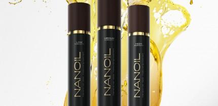 Régénération des cheveux avec de l'huile capillaire Nanoil